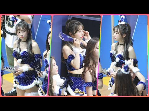 [4K] 치어리더 최하윤 직캠 (cheerleader) - 경기 응원 모음 @여자농구(신한은행)/191216…