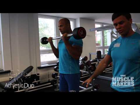 Štangos kėlimas stovint (bicepsui)
