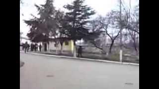 КАМАЗ ВС РФ блокировали украинским БТРом внутри учебки