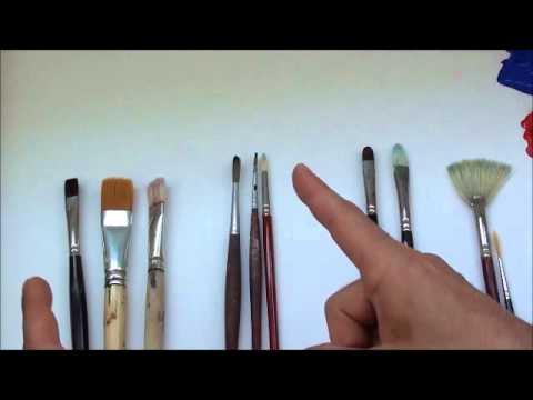 Tipps für Anfänger der Acrylmalerei (1): Pinsel, Teil 1