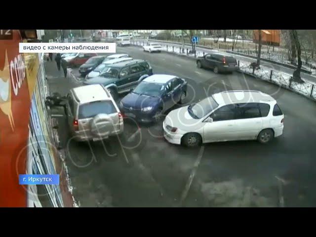 В Иркутске пенсионер перепутал педали и наехал на пешехода