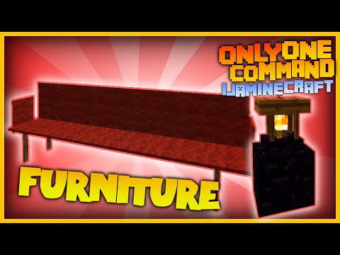 More Funiture With One Command Sofas Lamps In Vanilla Minecraft - Minecraft server commands erstellen