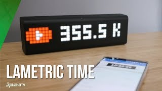 Lametric Time, review: MUCHO MÁS que un reloj digital