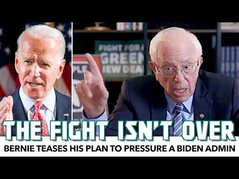 Bernie Teases His Plan To Push Biden As President