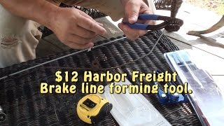 $12 Harbor Freight Brake Line Forming tool - 1970 F-250