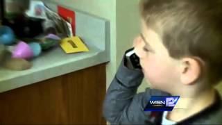 6 year old calls 911 to help choking sister