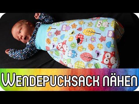 DIY Nähen für Anfänger: Wende-Pucksack (Schlafsack) für Babys nähen | Nähen zur Geburt