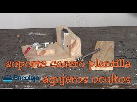 Soporte casero para plantilla agujeros ocultos o pocket hole