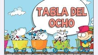 Canciones las Tablas de Multiplicar del 1 al 10 - TABLA DEL OCHO (8)
