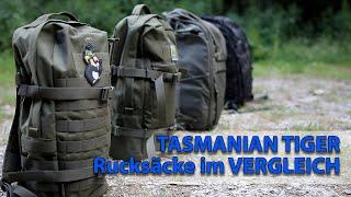 TT Rucksäcke für den Alltag - Tasmanian Tiger Essential Pack L, Daypack XL, Tac SW 25, Modular  30