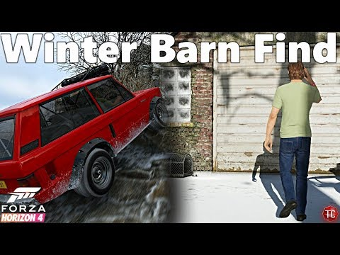 Forza Horizon 4: WINTER BARN FIND LOCATION + FULL OFF-ROAD BUILD!