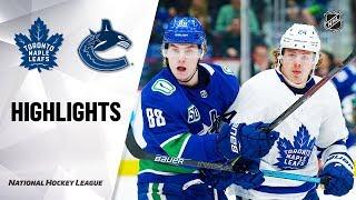 NHL Highlights   Maple Leafs @ Canucks 12/10/19