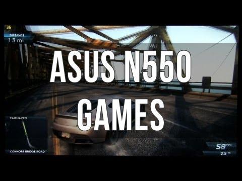 Asus N550 / N550JV gaming performance review