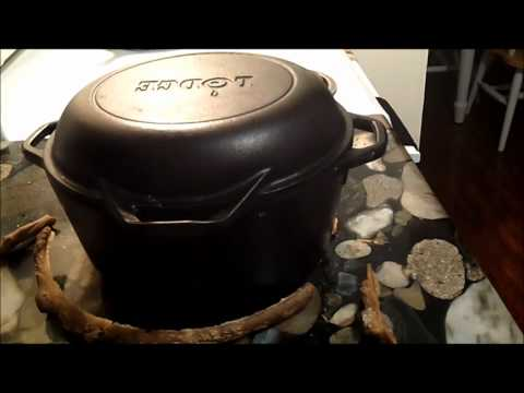 Opening Chicken in a Cast Iron Dutch Oven