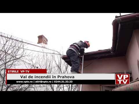 Val de incendii în Prahova