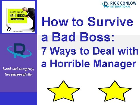 How to Survive a Bad boss: 7 Ways to Deal with a Horrible Manager