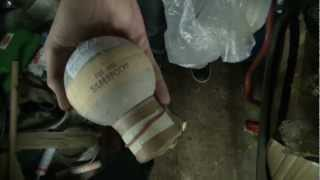 Zink 617 Silberblinkerpolyp und rotes Bukett - 100mm Kugelbombe / Shell [Full HD]