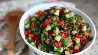 Healthy & Fresh Lentil Salad Recipe | GetFitWithLeyla