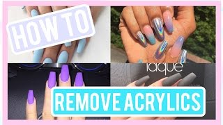 DIY : HOW TO REMOVE ACRYLICS WITHOUT ACETONE