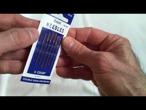 6pcs 2/0 57-69mm aghi per cucire per cuoio handsewn lavoro manuale