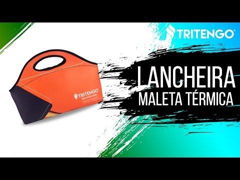 Lancheira Maleta Térmica em Neoprene Personalizada para Brinde Corporativo