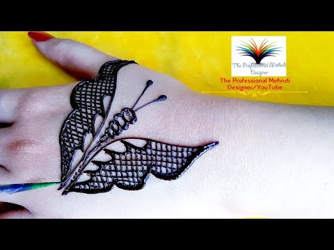 Download Butterfly Mehndi Design For Back Hand Easy Stylish