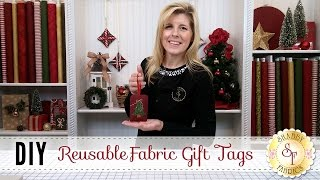 DIY Fabric Gift Tags | A Shabby Fabrics Craft Sewing Tutorial