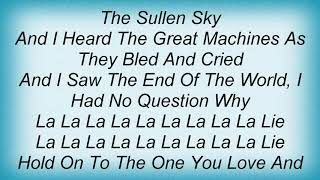 Swans - The River That Runs With Love Won't Run Dry Lyrics