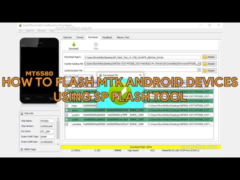 How To Flash MTK Android Devices Using SP Flash Tool - [romshillzz]