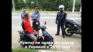 Нужны ли права на скутер в Украине в 2019 году?