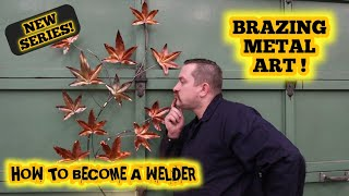 How to make a brazed copper leaf art sculpture and much more!