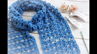 How To Crochet Lacy Scarf, Easy Beginners Pattern, Knitcrate Subscription Box