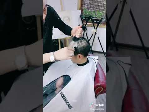 Asian Barber Makes Creative Haircuts