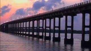 Sunrise at Pamban Bridge, Rameshwaram