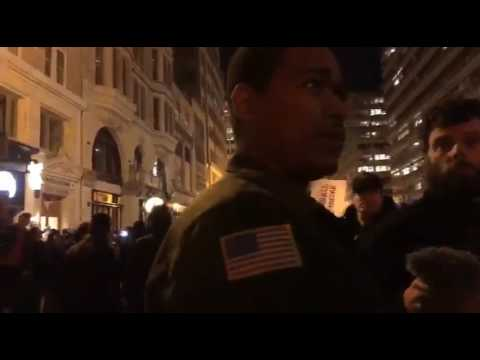 Black Trump Supporter Attempts Civil Discourse with anti-Trump Protesters