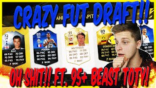 FIFA 16 CRAZY FUT DRAFT DEUTSCH  FIFA 16 ULTIMATE TEAM  OH SHIT Ft 95+ BEAST TOTY