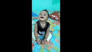 Cutest baby talk ever with his mother