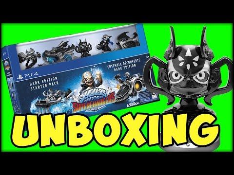 skylanders superchargers dark edition starter pack unboxing