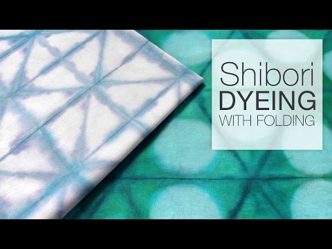 Shibori Folding Dyeing Technique