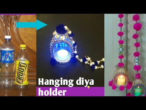 diy diwali hanging diya | christmas home decoration ideas| how to decorate christmas candles| kk50