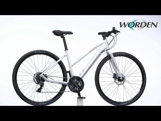 Видео Велосипед Scott Sub Cross 50 Lady White