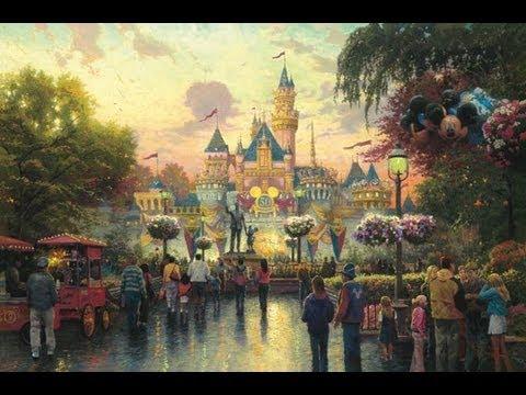 Disneyland 50th Anniversary The Thomas Kinkade Company