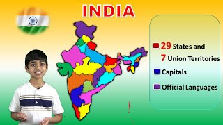 States of INDIA How to Learn | States & Union Territories | Capitals & Languages | Geography