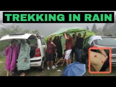 TREKKING DURING RAIN GOES WRONG #NEVER DRINK WHILE GOING FOR TREKKING #See what happened to US