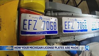 How Your Michigan License Plates Are Made