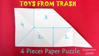 4 Pieces Paper Puzzle | English