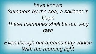 Andy Williams - Tender Is The Night Lyrics