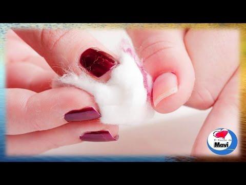 Como quitar el esmalte de uñas sin acetona o removedor