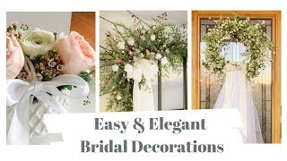 Easy And Elegant DIY Bridal Shower Decorations