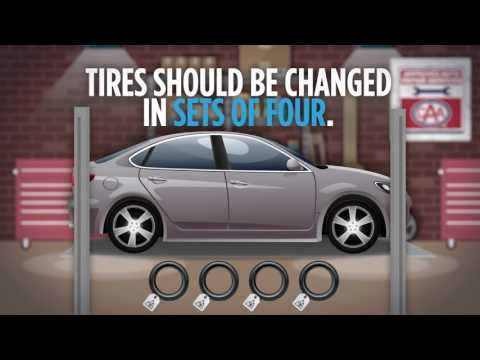 Tires should be changed in sets of four
